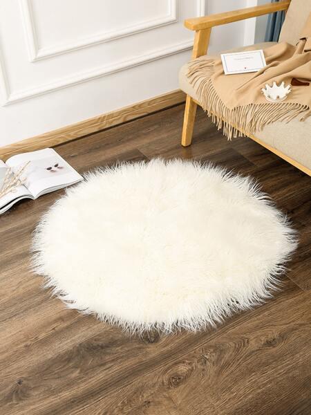 Round Plush Shaggy Carpet