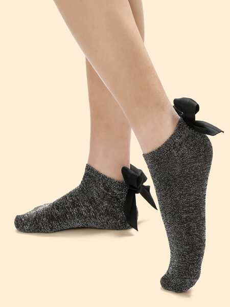 Bow Decor Socks