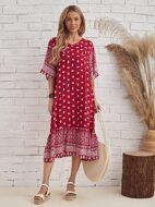 Floral Flounce Sleeve Smock Dress