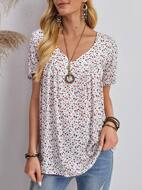 Ditsy Floral Print Blouse