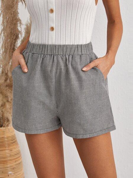 Striped Pocket Side Shorts