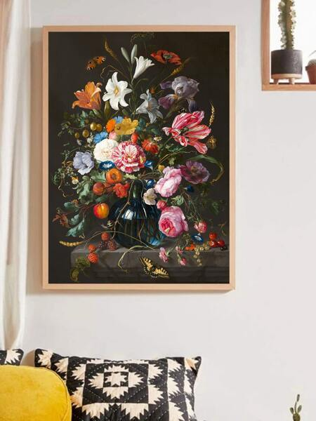 Floral Pattern Unframed Painting