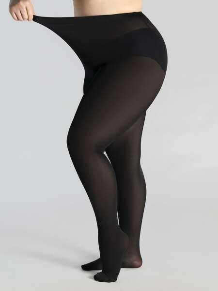 500D Sheer Plus Size Tights