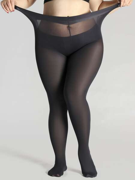 300D Sheer Plus Size Tights