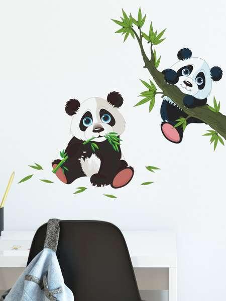 Kids Cartoon Panda Print Wall Sticker