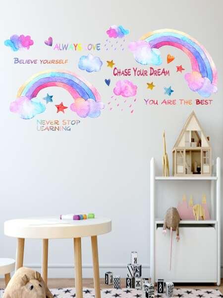 Kids Rainbow Print Wall Sticker