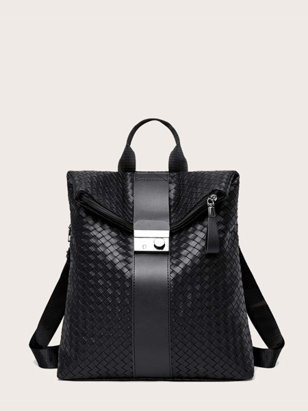 Woven Pattern Backpack