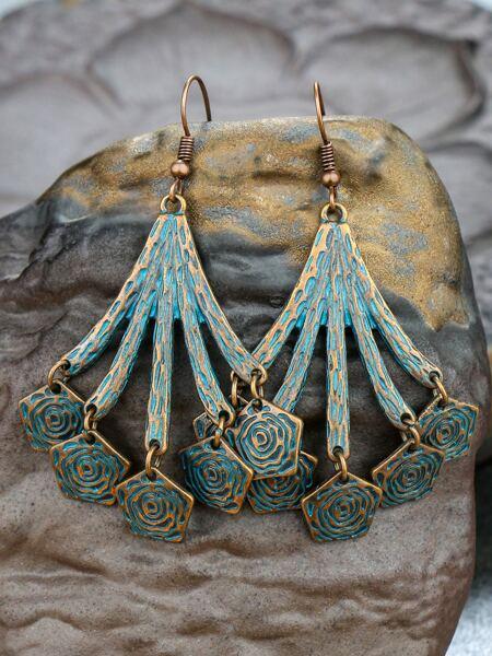 Geo Tassel Drop Earrings