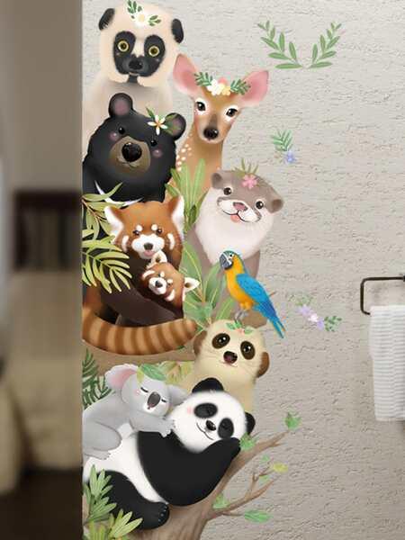 Kids Cartoon Animal Print Wall Sticker