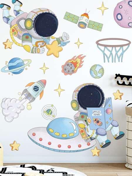 Kids Astronaut Print Wall Sticker