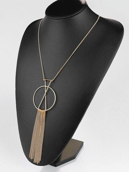 Chain Tassel Charm Necklace