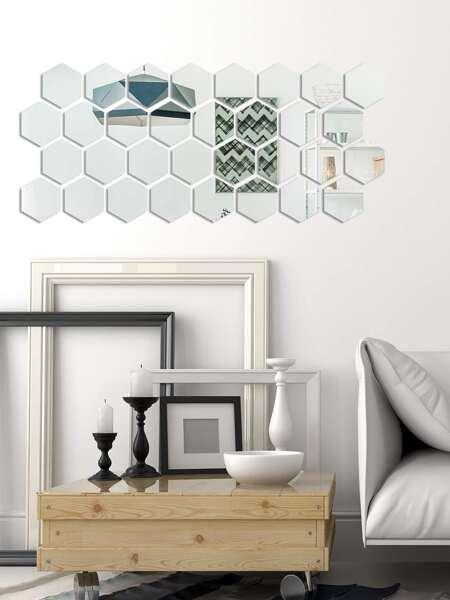 32pcs Diamond Mirror Surface Wall Sticker