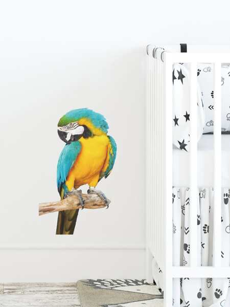 Kids Parrot Print Wall Sticker