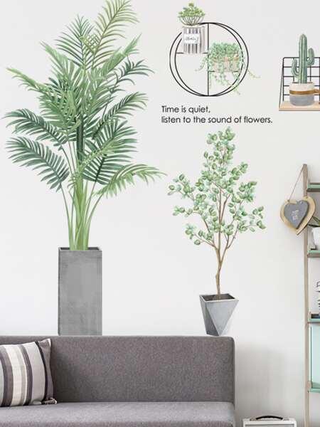 Plant Print Wall Sticker