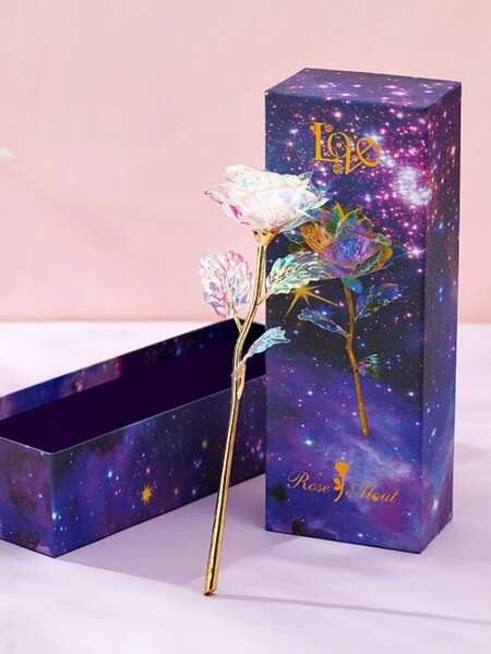 1pc Artificial Rose With Gift Box