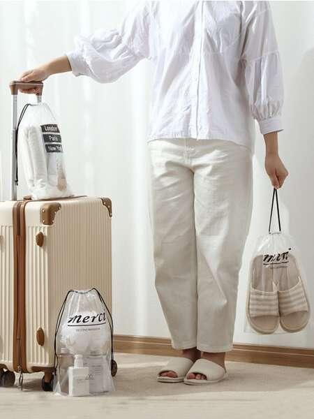 5pcs Drawstring Travel Storage Bag