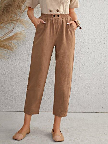 Slant Pocket Straight Leg Pants