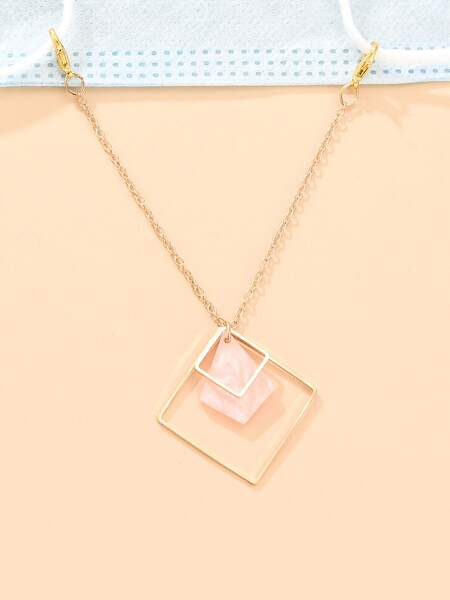 Hollow Square Decor Face Mask Chain