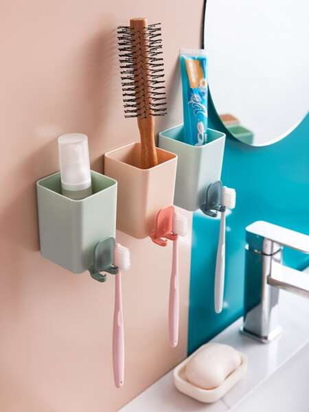 1pc Multifunction Random Color Toothbrush Holder