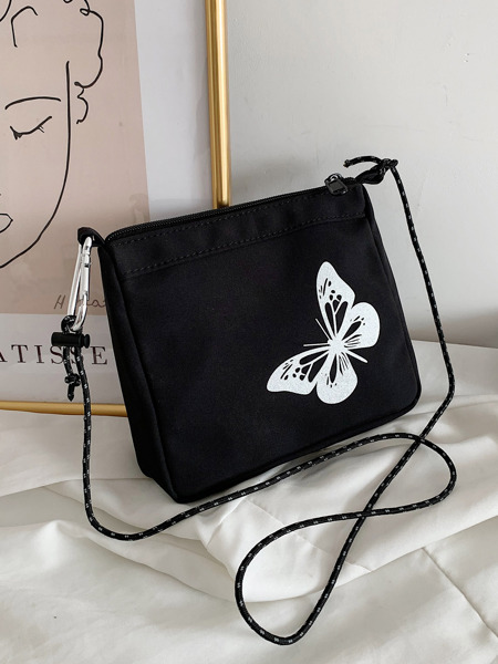 Butterfly Graphic Crossbody Bag