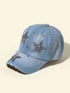Rhinestone Star Decor Baseball Cap