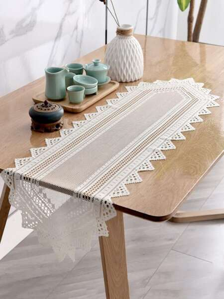 1pc Hollow Lace Table Runner