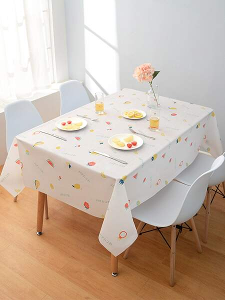Fruit Print Tablecloth