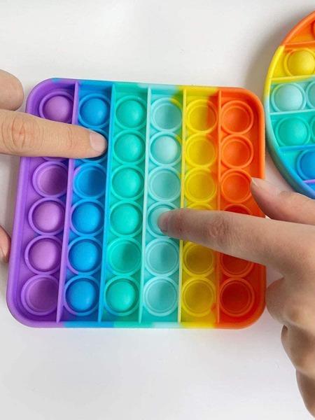 1pc Random Rainbow Stripe Stress Reliever Toy