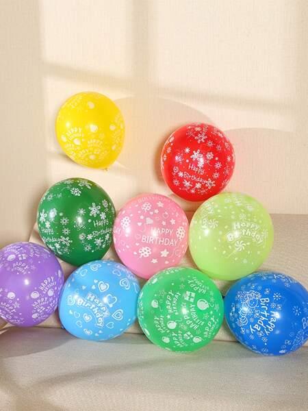 20pcs Random Color Birthday Decorative Balloon