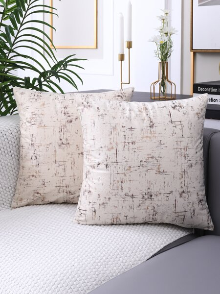 1pc Metallic Pattern Cushion Cover Without Filler