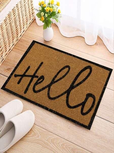 Letter Graphic Floor Mat