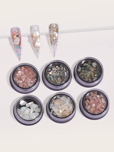 6boxes Shell Flake Nail Art Decoration
