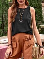 Solid Round Neck Tank Top