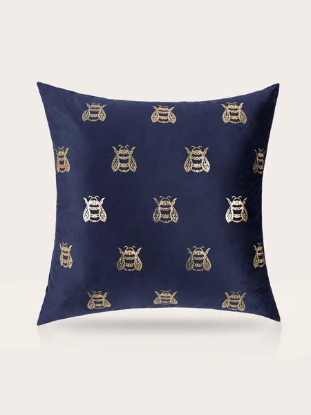 Bee Print Cushion Cover Without Filler