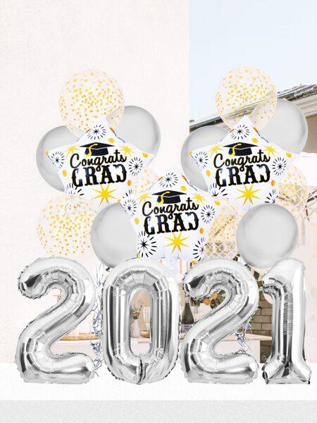 1set 2021 Graduation Party Balloon