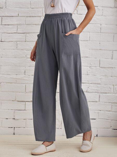 Pocket Front Wide Leg Pants