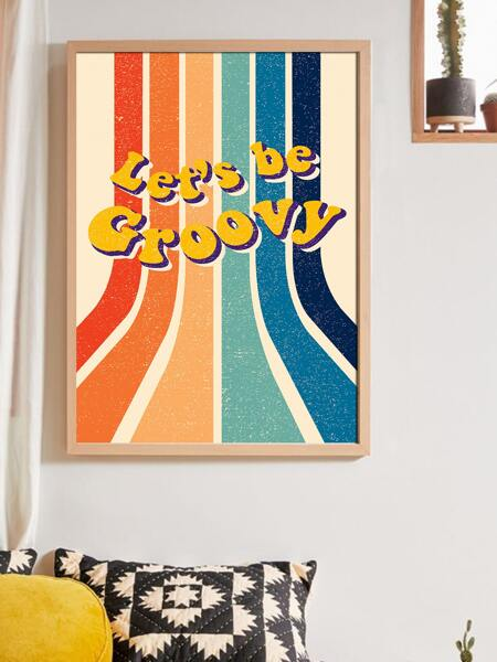 Slogan Graphic Unframed Painting