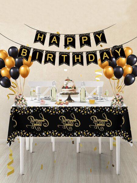26pcs Birthday Balloon & Flag Set