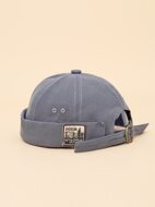 Letter Patched Cuffed Hat