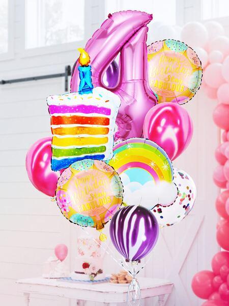 13pcs 4th Birthday Party Balloon Set