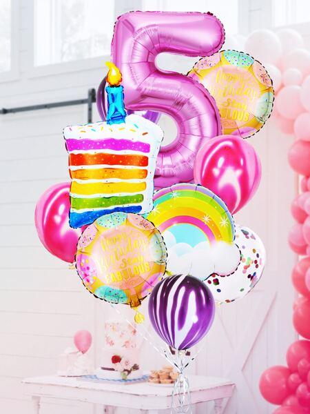 13pcs 5th Birthday Party Balloon Set