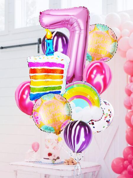 13pcs 7th Birthday Party Balloon Set