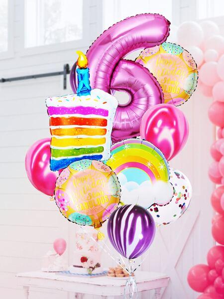 13pcs 6th Birthday Party Balloon Set