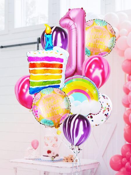 13pcs 1st Birthday Party Balloon Set
