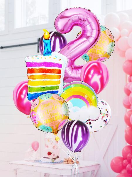 13pcs 2nd Birthday Party Balloon Set