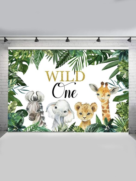 Cartoon Animal Pattern Background Curtain