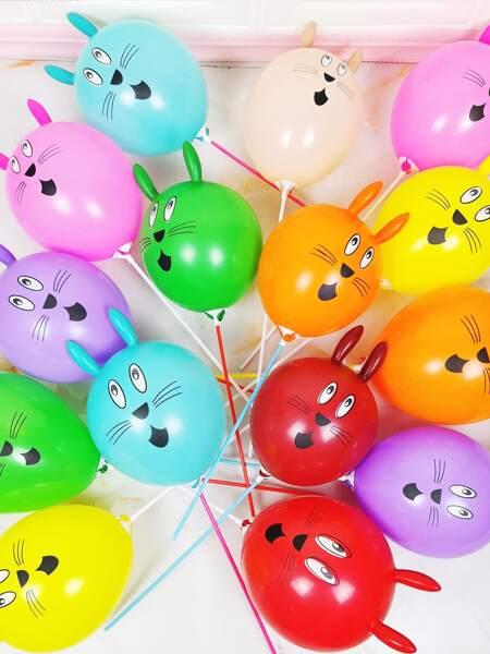 10pcs Random Color Rabbit Balloon