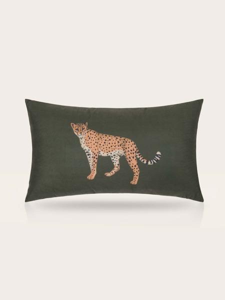 Leopard Print Lumbar Pillow Cover Without Filler