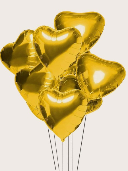 10pcs Heart Shaped Metallic Balloon