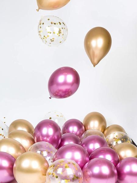 30pcs Metallic & Confetti Balloon Set